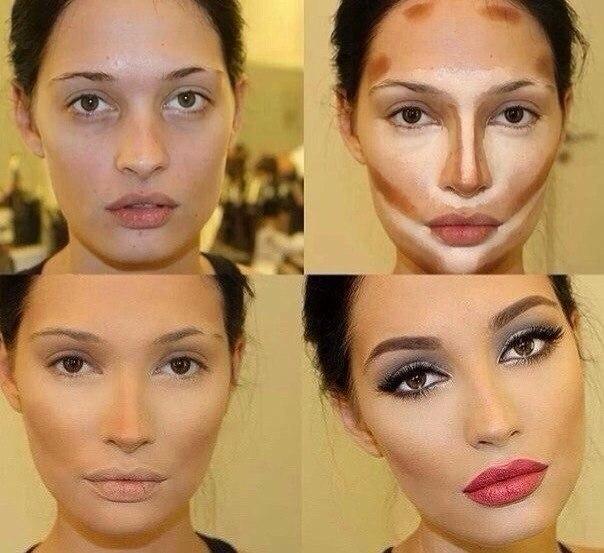 Уменьшить нос при помощи косметики