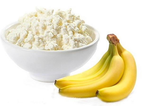 Как сделать творог с бананом 585
